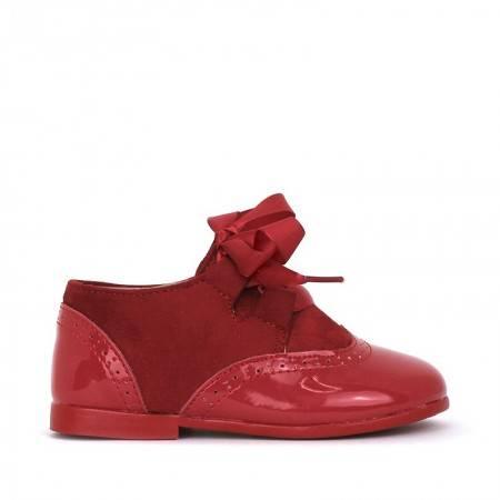 OXFORD zapatos de niña ROJOs bonitos
