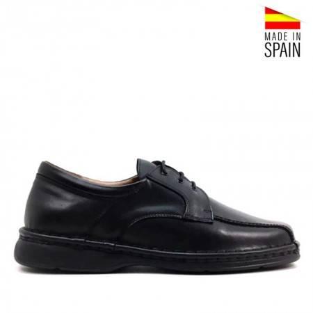 zapatos hombre piel valerio 2035 negro cordones baratos