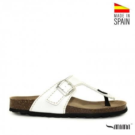 sandalias hombre blancas