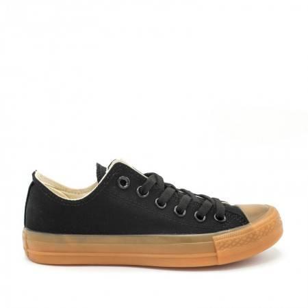 zapatillas lona negras clon converse baratas