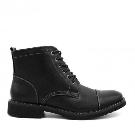 botas negras de hombre