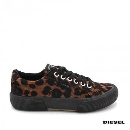 zapatilals niña diesel leopardo