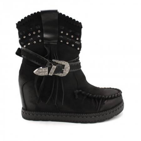 botas cuña interior negras