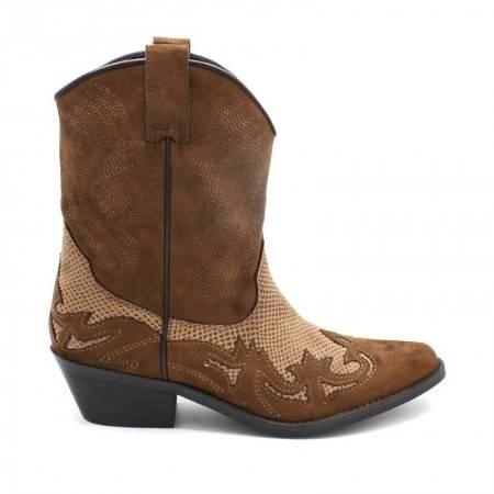botas camel cowboy