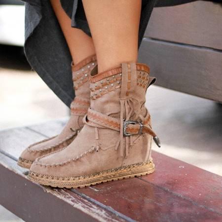 botas indias con cuña baratas