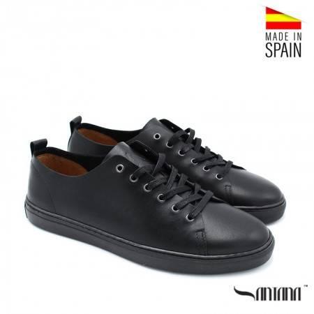 zapatos piel hombre negros santana