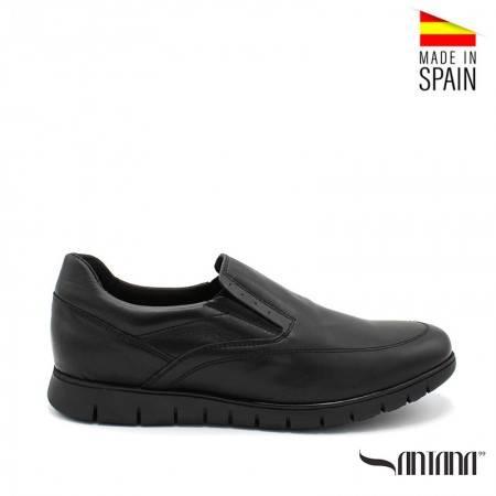 zapatos hombre negros sin cordones