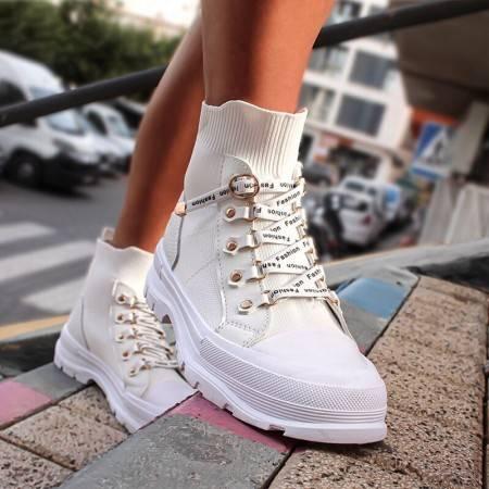 zapatillas abotinadas mujer