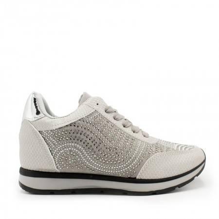 zapatillas de cuña plata
